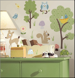 Woodland Animals Peel & Stick Stickers
