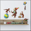 Curious George Storybook Wall Decals