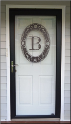 Monogram Static Cling Etched Look Decal
