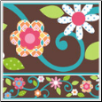 Brown Floral Scroll Peel & Stick Wall Border