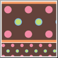Brown Polka Dot Peel & Stick Wall Border