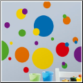 Just Dots Wall Stickers - Primary Colors