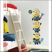 Despicable Me 2 Giant Minions Wall Decals