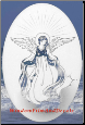 Angel Static Cling Window Decal
