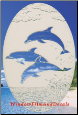 Dolphins Jumping Static Cling Window Decal
