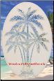 Palm Tree Static Cling Window Decal (Center)