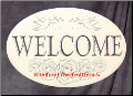 Welcome Sign Window Decal (Horizontal)