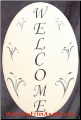 Welcome Sign Window Decal (Vertical)