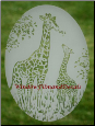 Giraffes Static Cling Window Decal