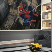 Ultimate Spiderman Cityscape XL Wall Mural