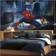 Ultimate Spiderman Rooftop XL Wall Mural