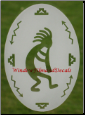 Kokopelli Window Decal - Left