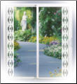 Lily Etched Glass Sidelight Window Film