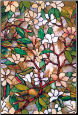 "Magnolia Privacy Stained Glass Window Film 24"" x 36"""