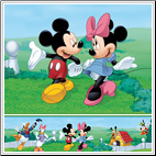 Mickey and Friends Peel & Stick Wall Border