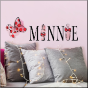 Minnie Mouse Perfume and Lipstick Wall Decals