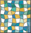 Mirage Privacy Stained Glass Window Film