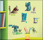 Monsters Inc. Wall Decals