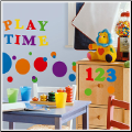 Numbers Primary Colors Wall Stickers