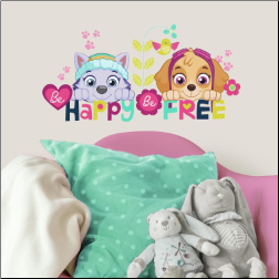 Paw Patrol Skye and Everest Wall Decals