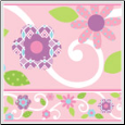 Pink Floral Scroll Peel & Stick Wall Border
