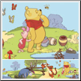 Pooh & Friends Peel & Stick Wall Border