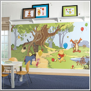 Pooh and Friends XL Prepasted Wallpaper Mural