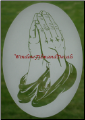 Praying Hands Glass Window Decal