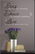 Sing Dance Love Wall Decals