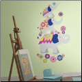 Pink and Yellow Giant Waverly Elephants Wall Decals