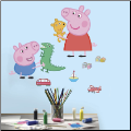 Peppa Pig and George Playtime Wall Decals