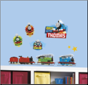 Thomas the Tank Racing Wall Decals Set