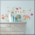 Lisa Audit Watercolor Garden Bouquet Wall Decals
