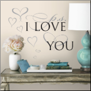 PS I Love You Quote Wall Decals