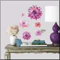 Kathy Davis Watercolor Blooms Wall Decals