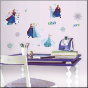 Disney Frozen Fun Wall Decals w/ Embellishments