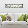 Bless This Home Quote Wall Decal