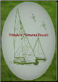 Sailboat Glass Window Decal