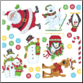 Santa and Friends Wall Decals