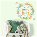 Sweet Baby Wreath Giant Wall Decals