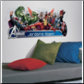 Avengers Assemble Headboard Wall Decal w/ Alphabet