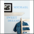 Blue Alphabet Wall Decals
