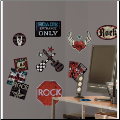 Boys Rock-n-Roll Wall Decals