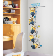 Despicable Me 2 Movie  Peel and Stick Growth Chart Decals