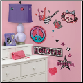 Girls Rock-n-Roll Wall Decals