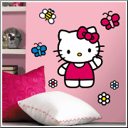 Hello Kitty World Giant Wall Decal