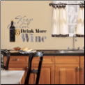 Keep Calm and Drink More Wine Wall Decals