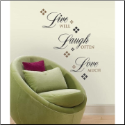 Live Well Laugh Often Love Much Wall Decals