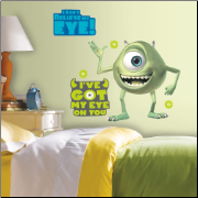 Monsters Inc. Giant Mike Wazowski Wall Decals