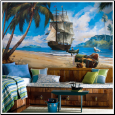 Pirate Ship XL Prepasted Wallpaper Mural